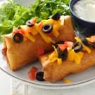 Beef and Bean Chimichangas