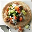 Greek Sausage Pitas