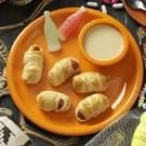 Hot Dog Mummies with Honey Mustard Dip