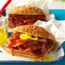 Slow Cooker BBQ Ham Sandwiches