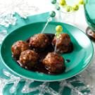 Pomegranate-Glazed Turkey Meatballs