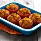 Stuffed Tomatoes with Chorizo and Corn Bread
