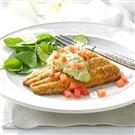 Cornmeal Catfish with Avocado Sauce