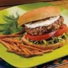Grilled Burgers with Horseradish Sauce
