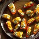Broccoli & Chive-Stuffed Mini Peppers
