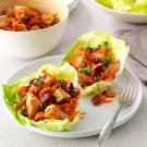 Cherry-Chicken Lettuce Wraps