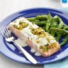 Pistachio-Crusted Salmon with Lemon Cream Sauce