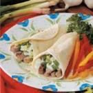 Greek Pork Wraps