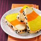 Candy Corn Ice Cream Sandwiches