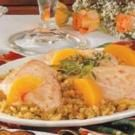 Chicken with Peach Stuffing