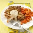 Walnut-Breaded Chops with Honey Mustard Sauce
