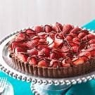 Chocolate-Strawberry Cream Cheese Tart