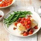 Cod with Bacon & Balsamic Tomatoes