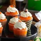 Chocolate Candy Corn Cupcakes