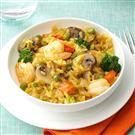 Shrimp & Broccoli Brown Rice Paella
