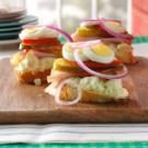 Ham & Potato Salad Sandwiches
