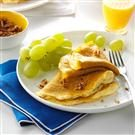 Pumpkin Crepes with Mascarpone Custard