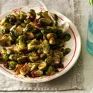 Roasted Brussels Sprouts with Cranberries & Almonds