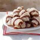 Raspberry-Almond Crescent Cookies