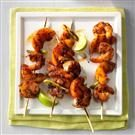 Barbecued Shrimp & Peach Kabobs