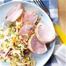 Asian-Style Pork Tenderloin with Slaw