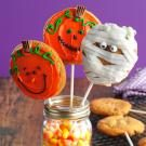 Halloween Peanut Butter Cookie Pops