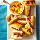 Hot Dog Sliders with Mango-Pineapple Salsa