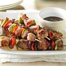 Plum-Glazed Pork Kabobs