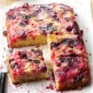 Rhubarb-Berry Upside-Down Cake