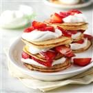 Cornmeal Towers with Strawberries & Cream