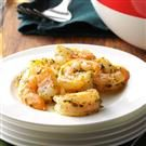 Roasted Pesto-Marinated Shrimp