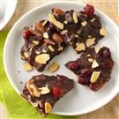 Cranberry and Almond Dark Chocolate Bark
