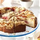 Rhubarb & Strawberry Coffee Cake