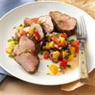 Caribbean-Spiced Pork Tenderloin & Peach Salsa