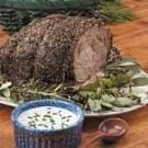 Herbed Roast Beef with Horseradish Sauce