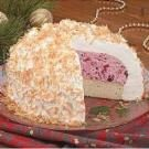 Coconut Cranberry Alaska