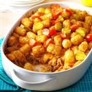 Bacon Cheeseburger Tater Tot Bake