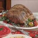 Garlic-Mustard Rib Roast