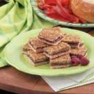 Raspberry-Filled Walnut Shortbread Bars