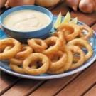 Fried Onion Rings with Lime Dipping Sauce