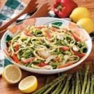 Fettuccini Primavera with Lemon Sauce