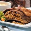Veal Breast with Farfel Stuffing