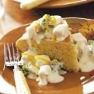Creamed Chicken Over Corn Bread