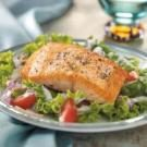 Salmon Fillets on Greens