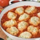 Parsley Dumplings with Tomatoes
