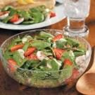 Strawberry Mushroom Spinach Salad