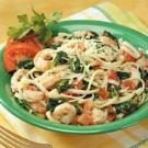 Spinach Shrimp Fettuccine