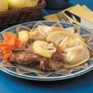 Pork Chops 'n' Pierogies