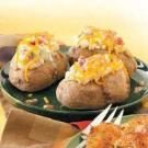 Baked Potatoes with Topping