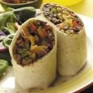 Three-Pepper Beef Wraps